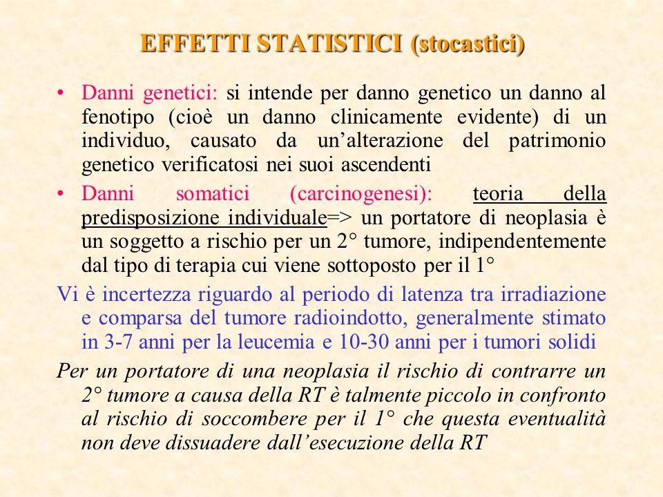 EFFETTI STATISTICI (stocastici)
