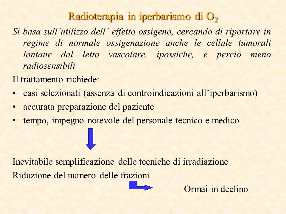 Radioterapia in iperbarismo di O2