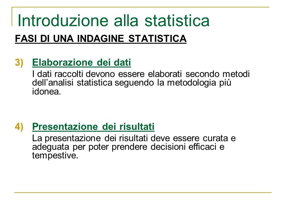 Introduzione alla statistica
