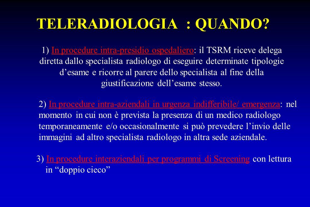TELERADIOLOGIA : QUANDO