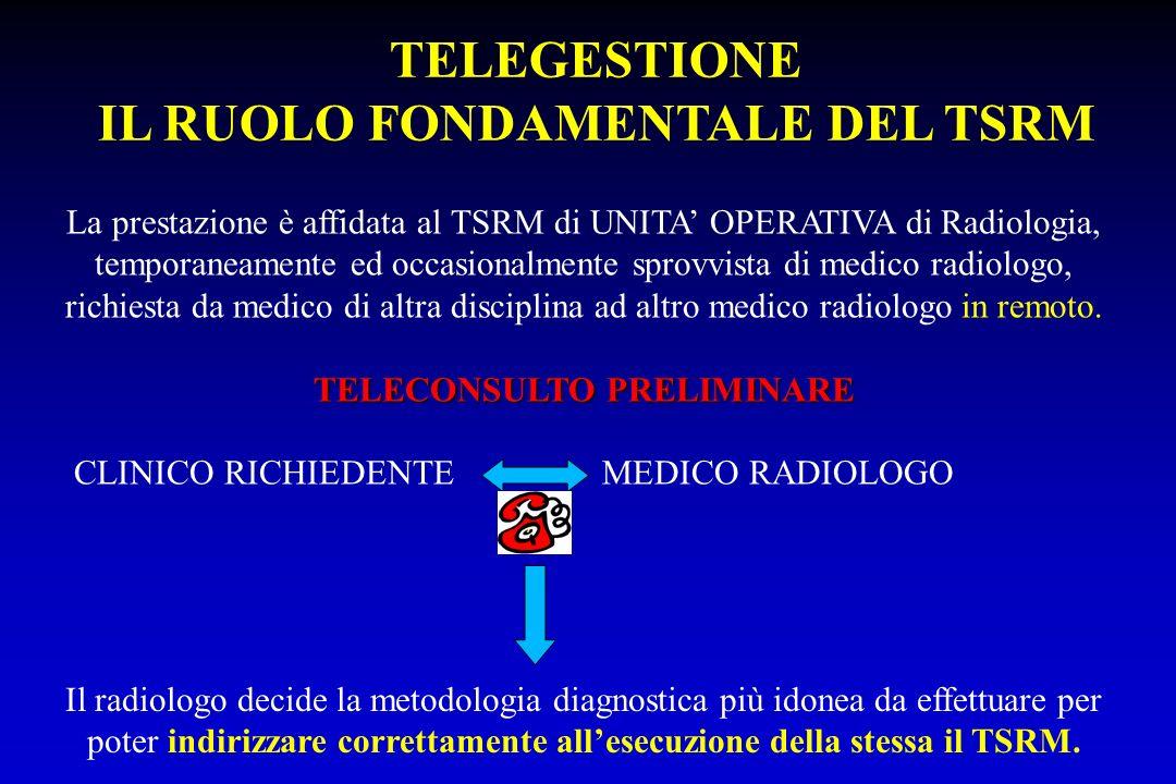 IL RUOLO FONDAMENTALE DEL TSRM TELECONSULTO PRELIMINARE