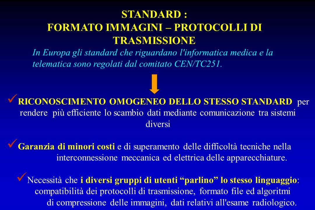 FORMATO IMMAGINI – PROTOCOLLI DI TRASMISSIONE