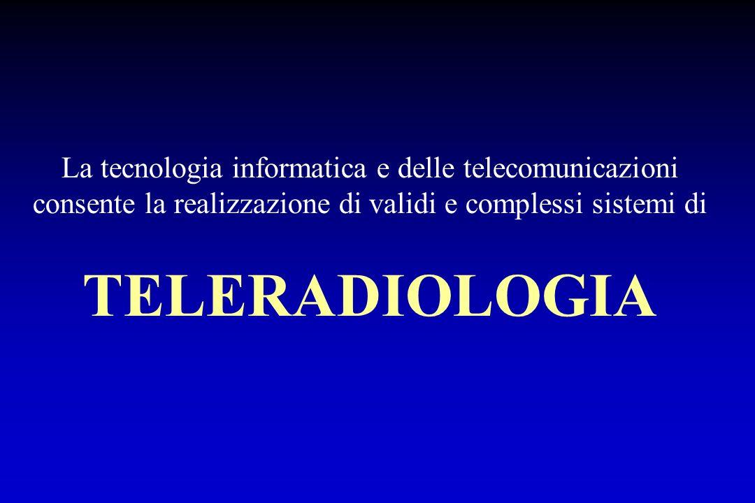 La tecnologia informatica e delle telecomunicazioni consente la realizzazione di validi e complessi sistemi di