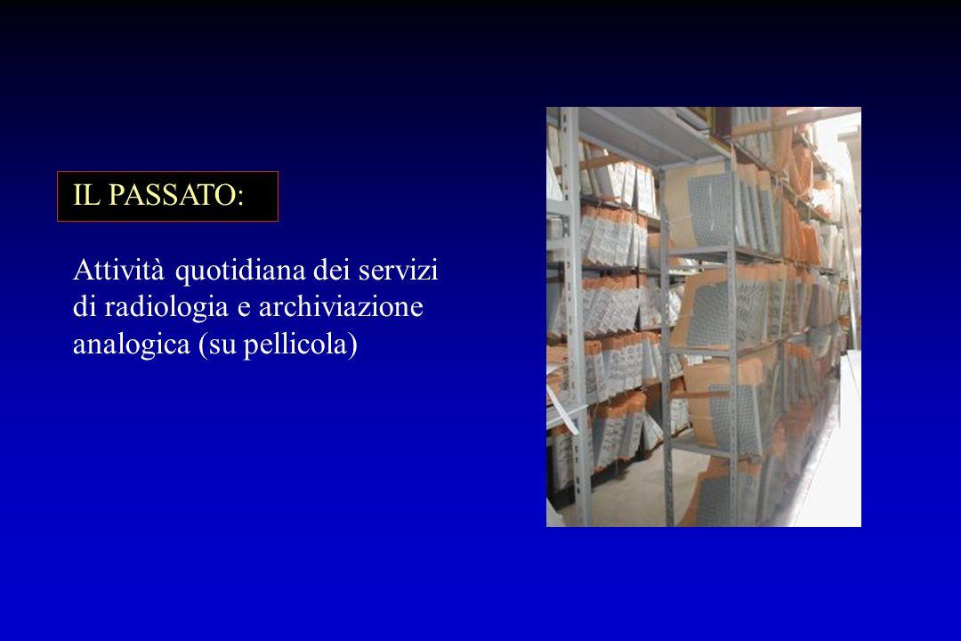 IL PASSATO: Attività quotidiana dei servizi di radiologia e archiviazione analogica (su pellicola)