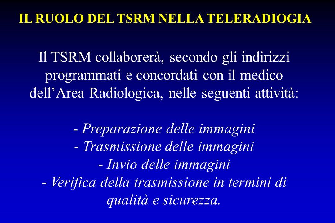 IL RUOLO DEL TSRM NELLA TELERADIOGIA