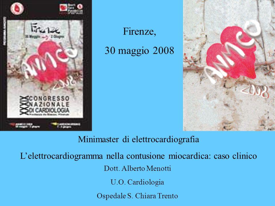 Firenze, 30 maggio 2008 Minimaster di elettrocardiografia