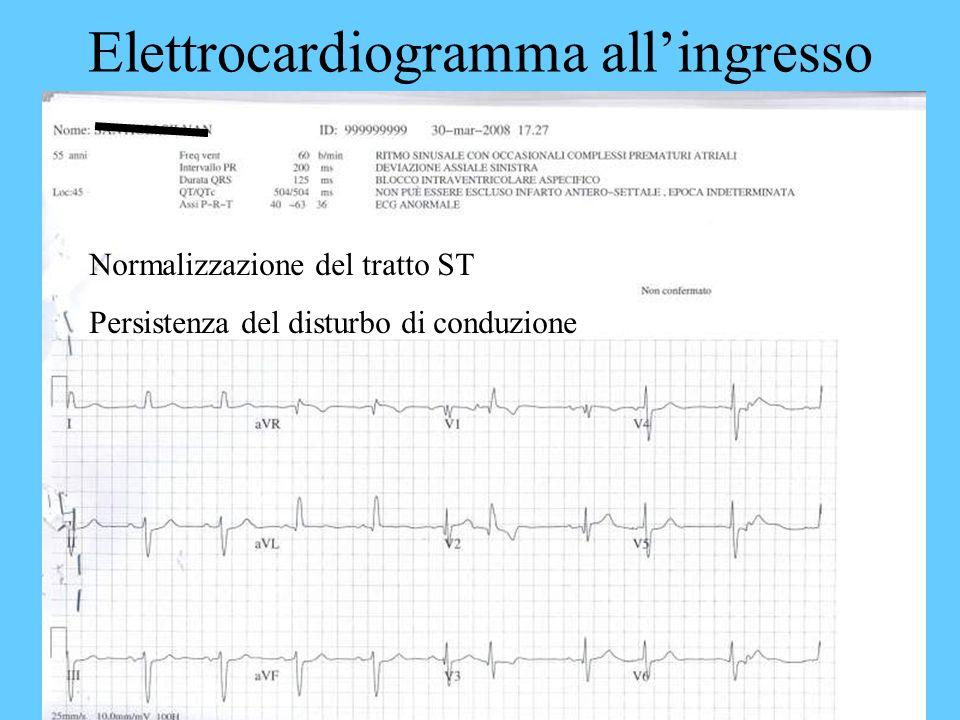 Elettrocardiogramma all'ingresso