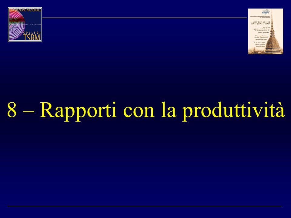8 – Rapporti con la produttività