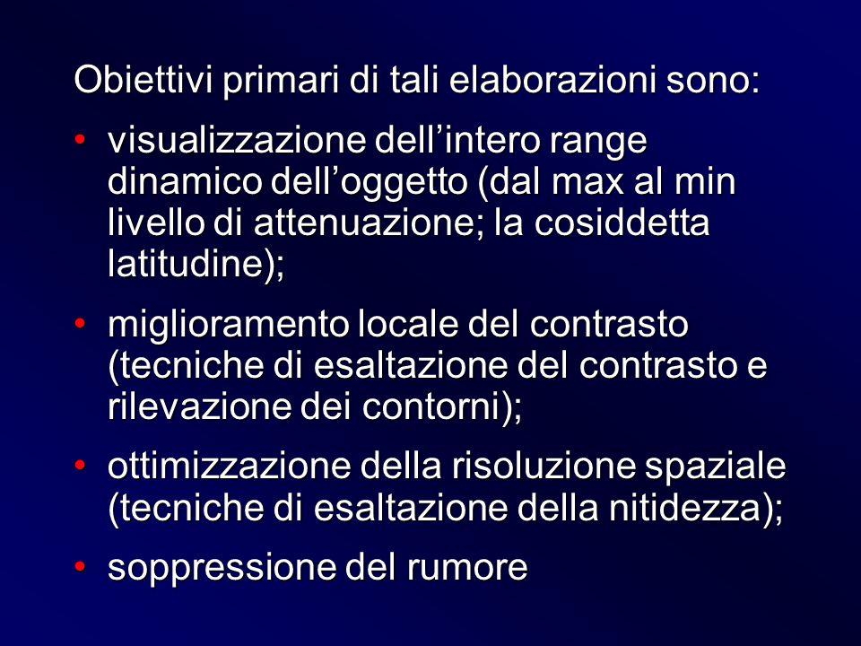 Obiettivi primari di tali elaborazioni sono:
