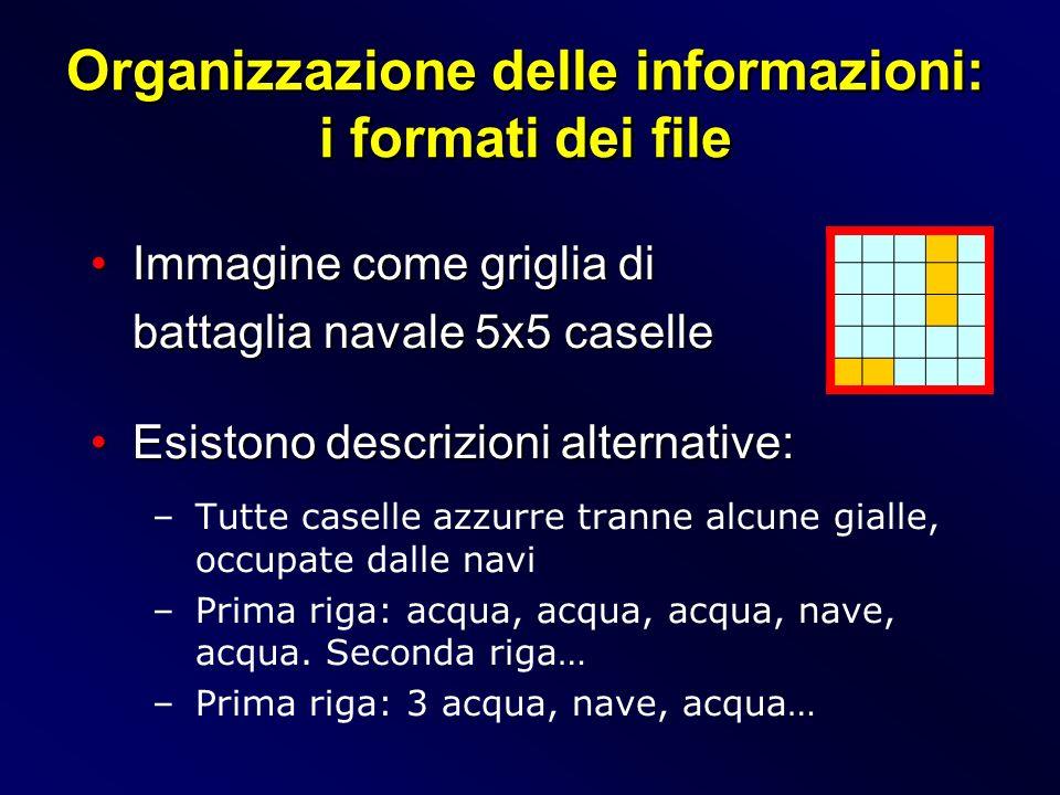 Organizzazione delle informazioni: