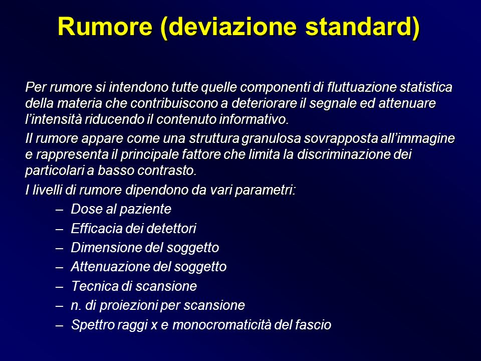 Rumore (deviazione standard)