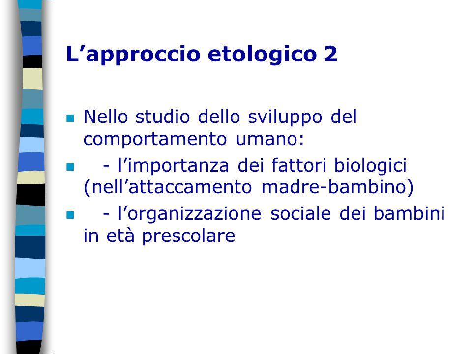 L'approccio etologico 2