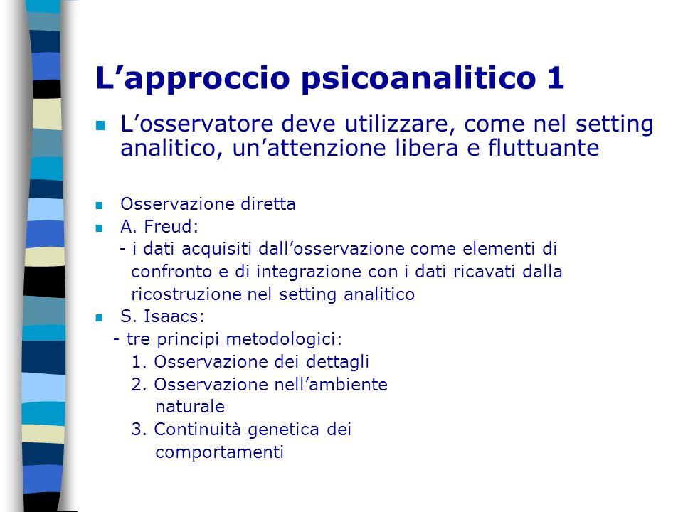 L'approccio psicoanalitico 1