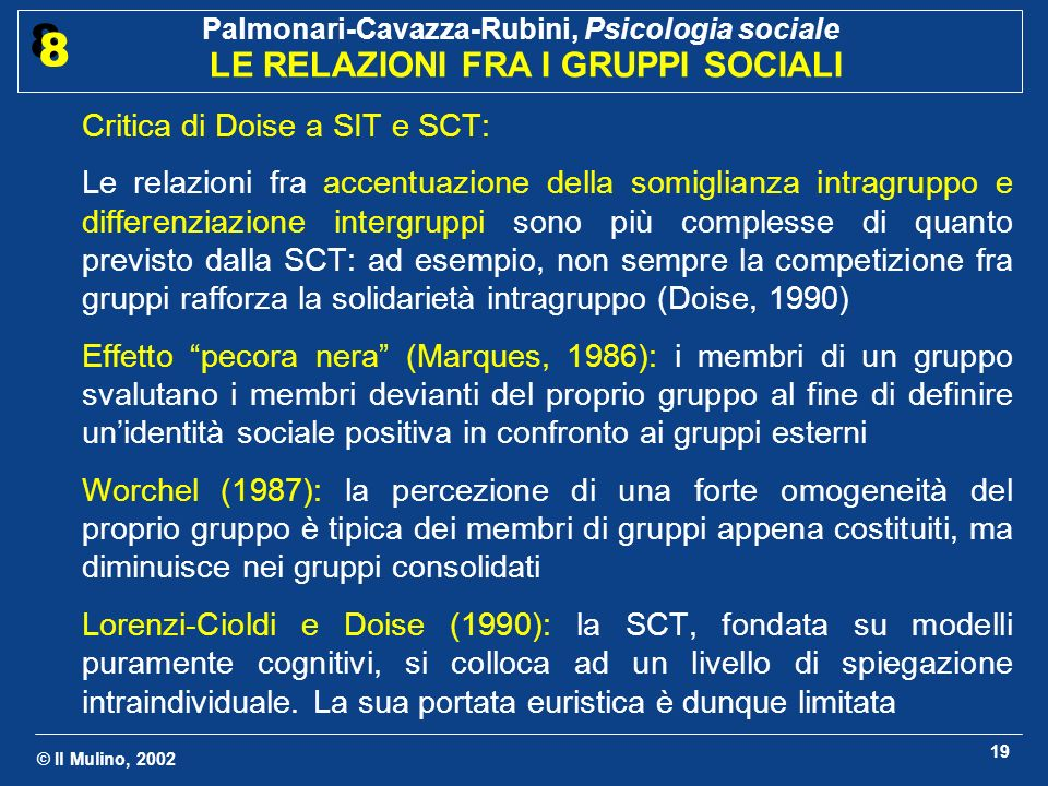 Critica di Doise a SIT e SCT: