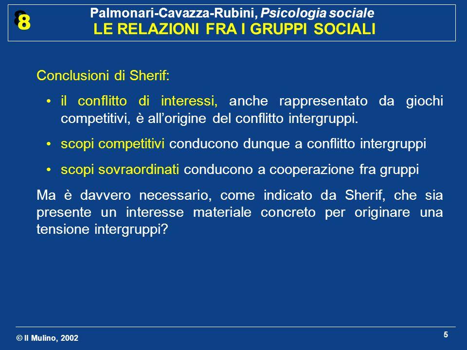 Conclusioni di Sherif: