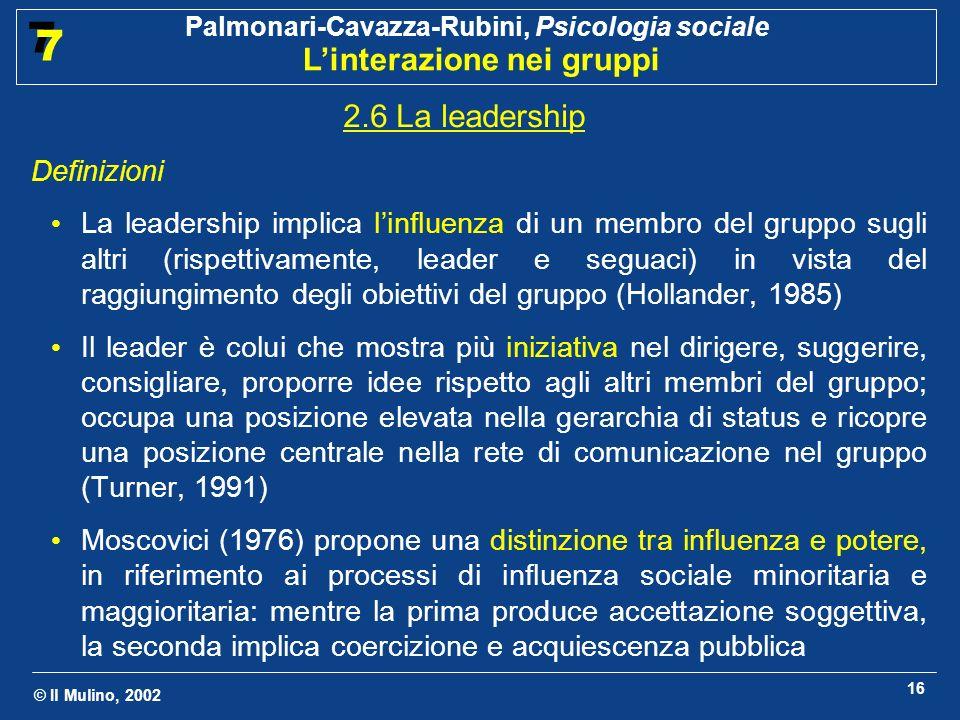 2.6 La leadership Definizioni.