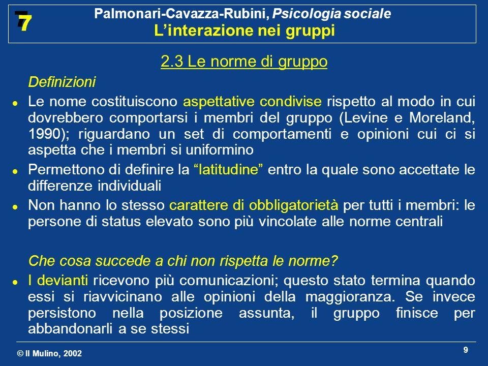 2.3 Le norme di gruppo Definizioni.