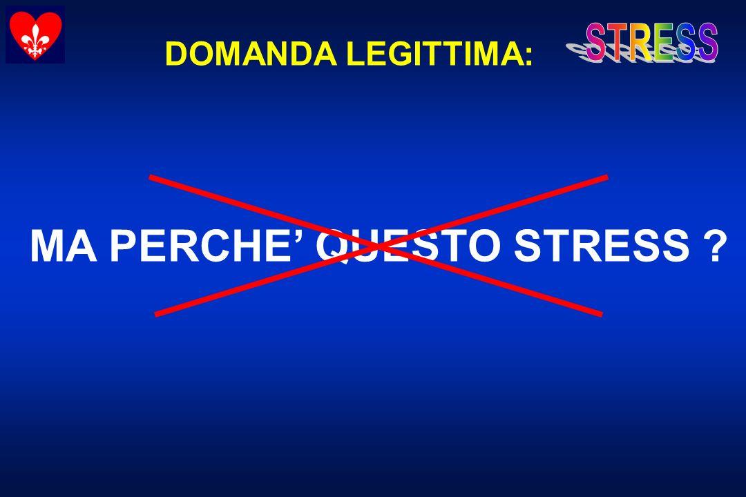 MA PERCHE' QUESTO STRESS