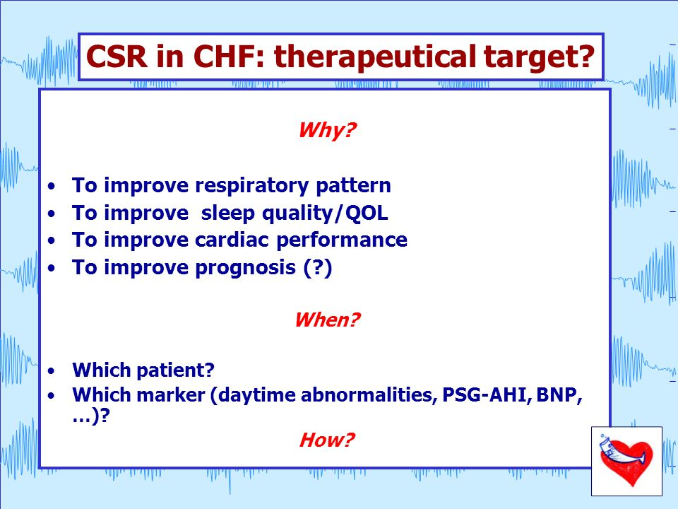 CSR in CHF: therapeutical target