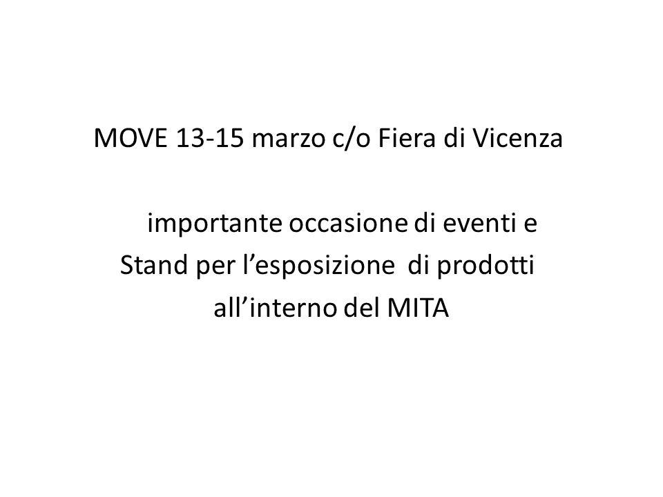 MOVE 13-15 marzo c/o Fiera di Vicenza