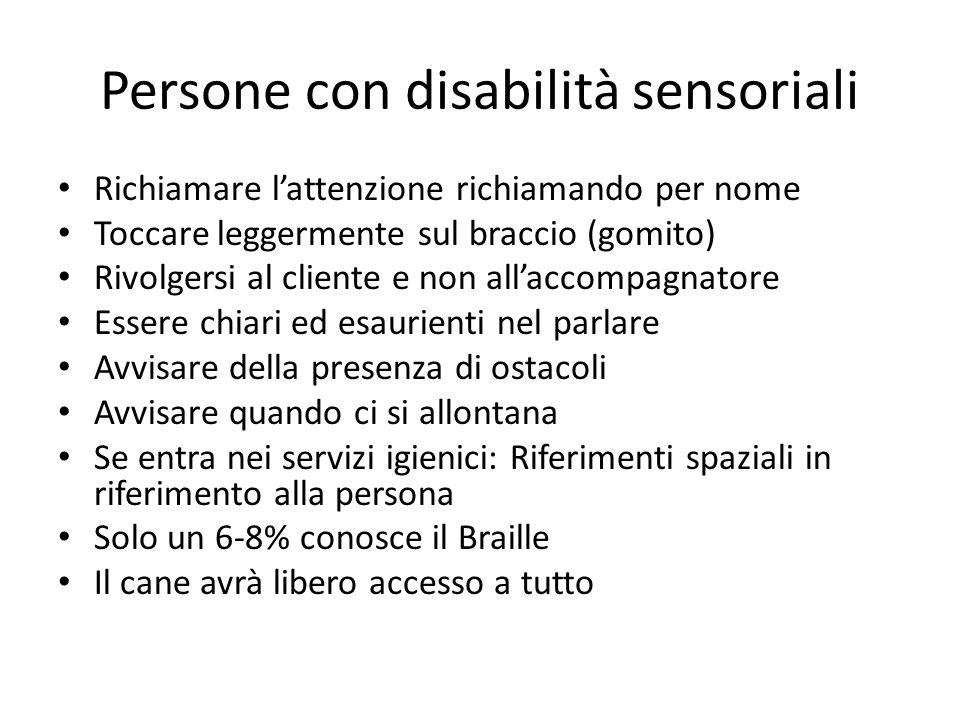 Persone con disabilità sensoriali