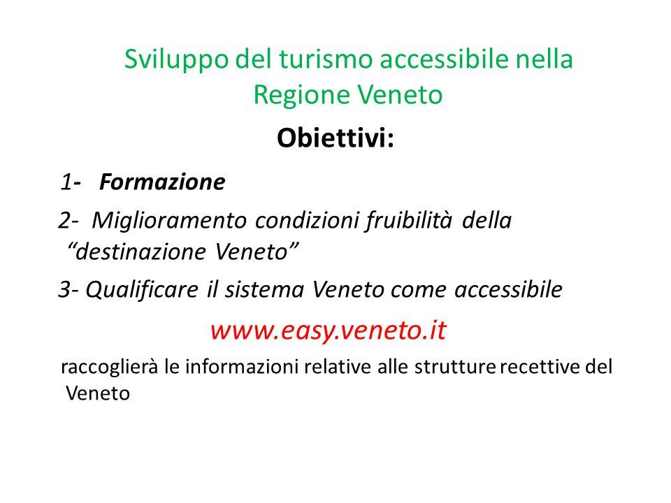 Sviluppo del turismo accessibile nella Regione Veneto