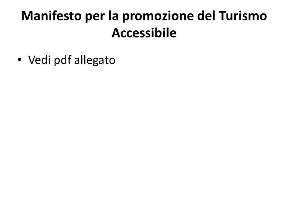Manifesto per la promozione del Turismo Accessibile