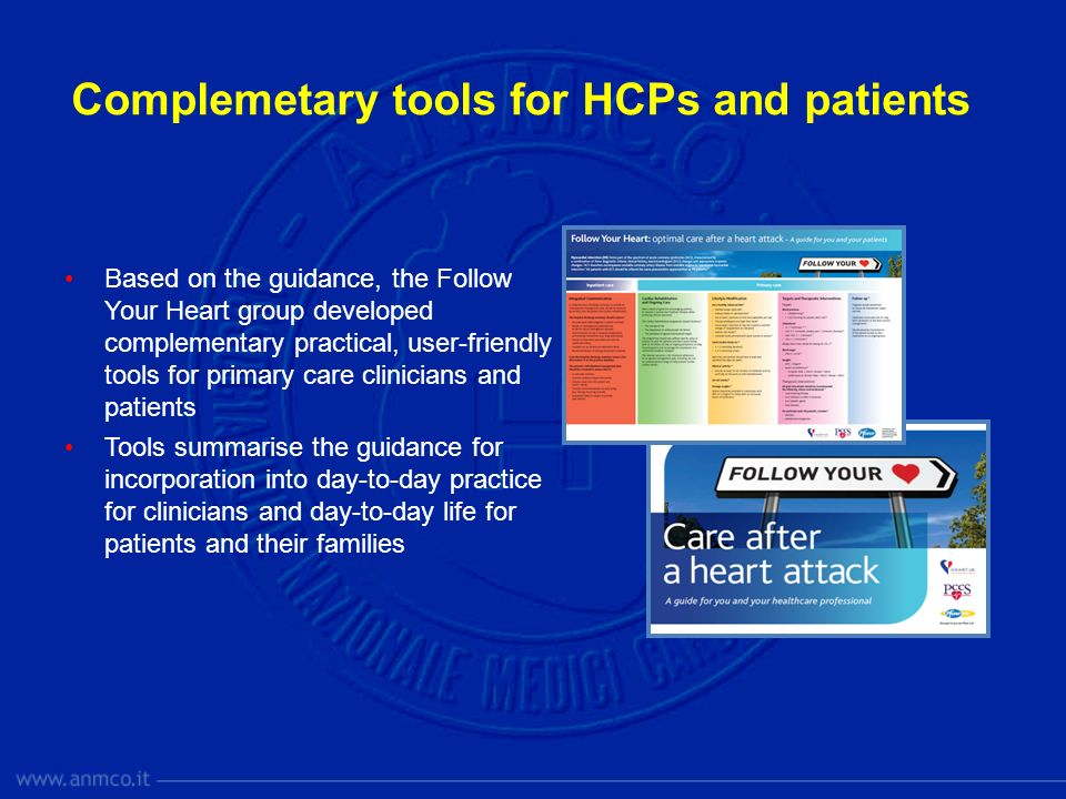 Complemetary tools for HCPs and patients
