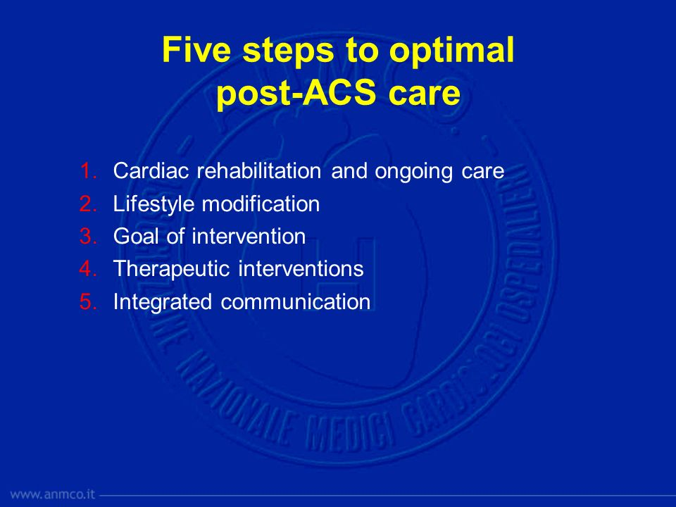 Five steps to optimal post-ACS care