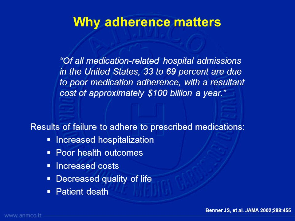 Why adherence matters
