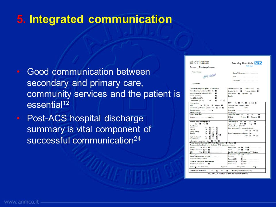 5. Integrated communication