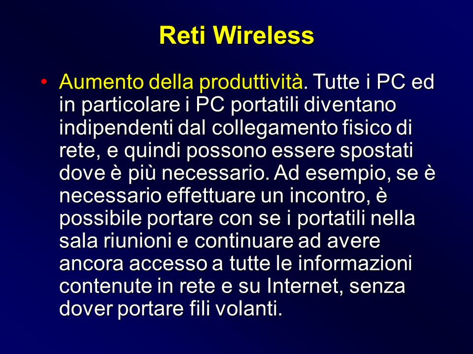 Reti Wireless