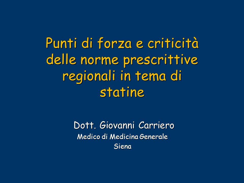 Dott. Giovanni Carriero Medico di Medicina Generale Siena
