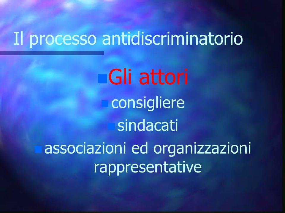 Il processo antidiscriminatorio