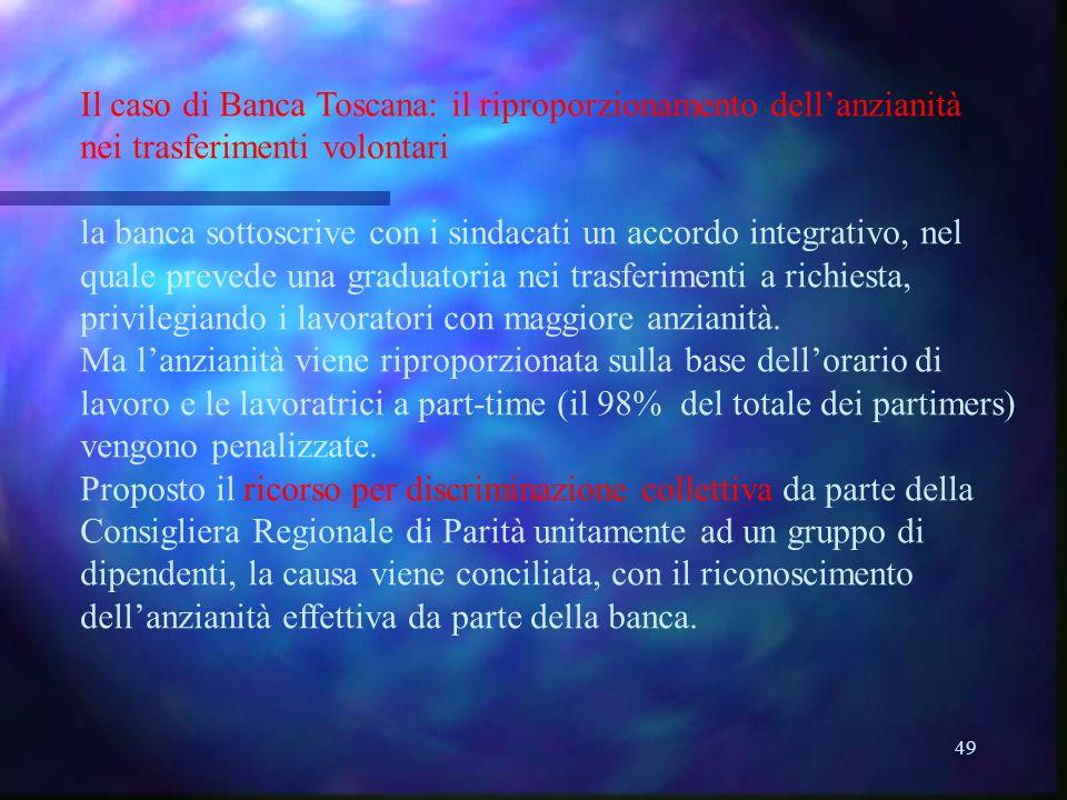Il caso di Banca Toscana: il riproporzionamento dell'anzianità