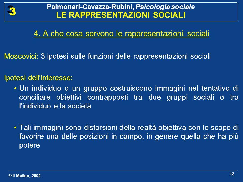 4. A che cosa servono le rappresentazioni sociali