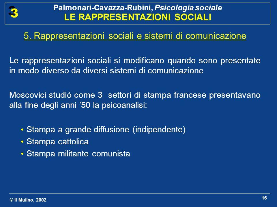 5. Rappresentazioni sociali e sistemi di comunicazione