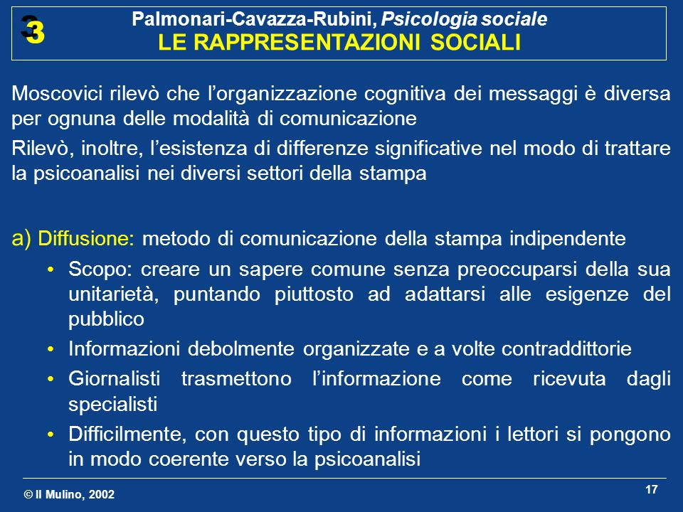 a) Diffusione: metodo di comunicazione della stampa indipendente