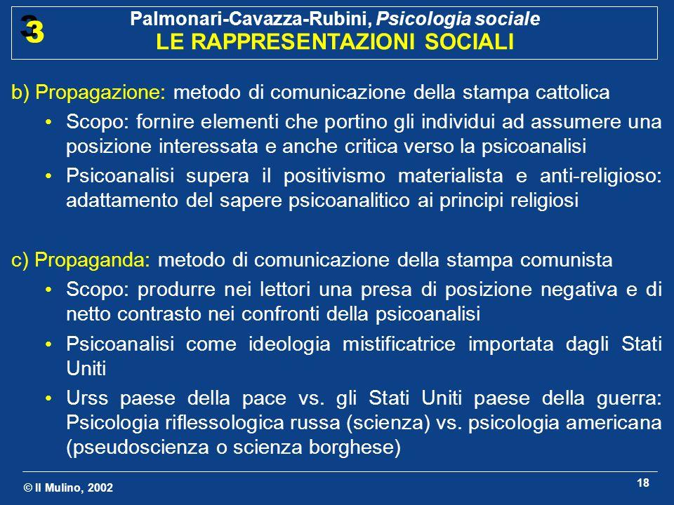 b) Propagazione: metodo di comunicazione della stampa cattolica