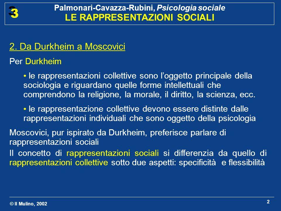 2. Da Durkheim a Moscovici