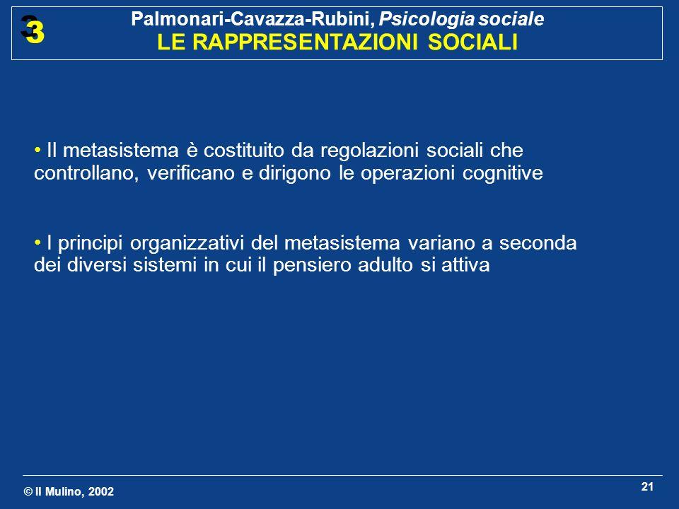 Il metasistema è costituito da regolazioni sociali che controllano, verificano e dirigono le operazioni cognitive