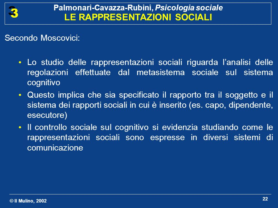 Secondo Moscovici: