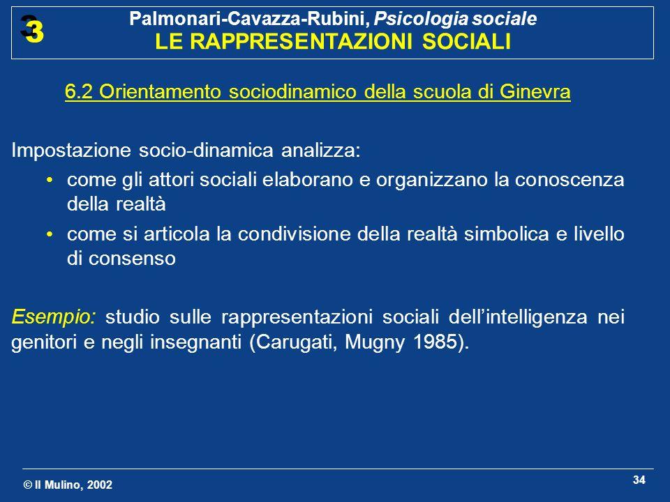 6.2 Orientamento sociodinamico della scuola di Ginevra