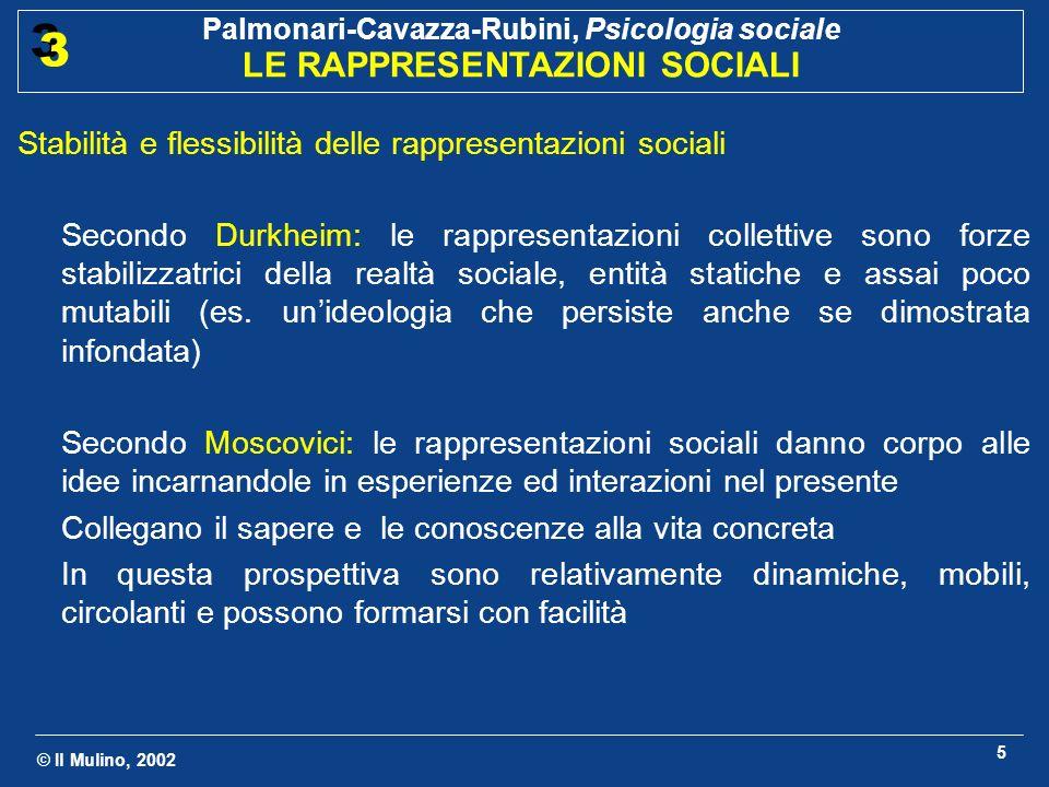 Stabilità e flessibilità delle rappresentazioni sociali