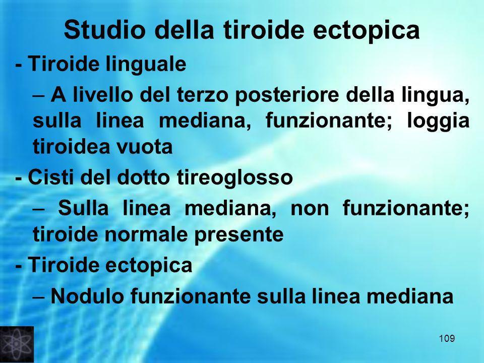 Studio della tiroide ectopica