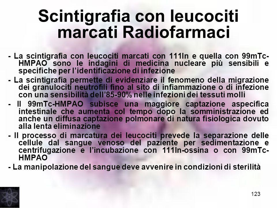 Scintigrafia con leucociti marcati Radiofarmaci