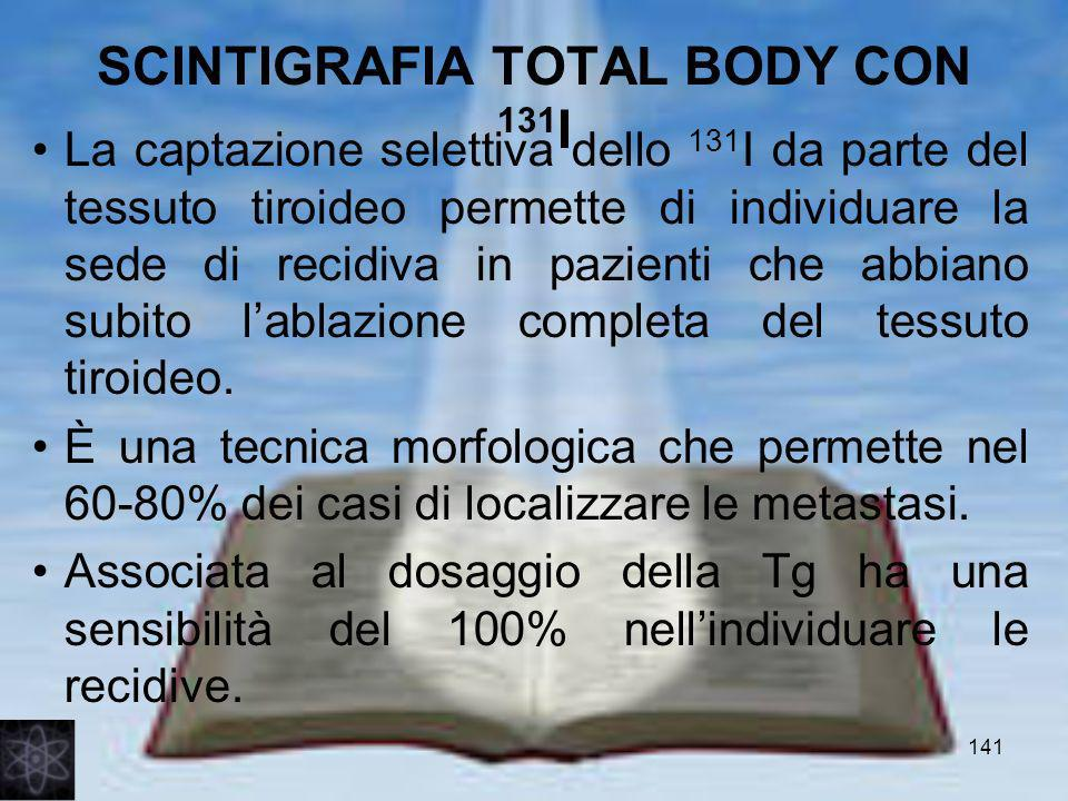 SCINTIGRAFIA TOTAL BODY CON 131I