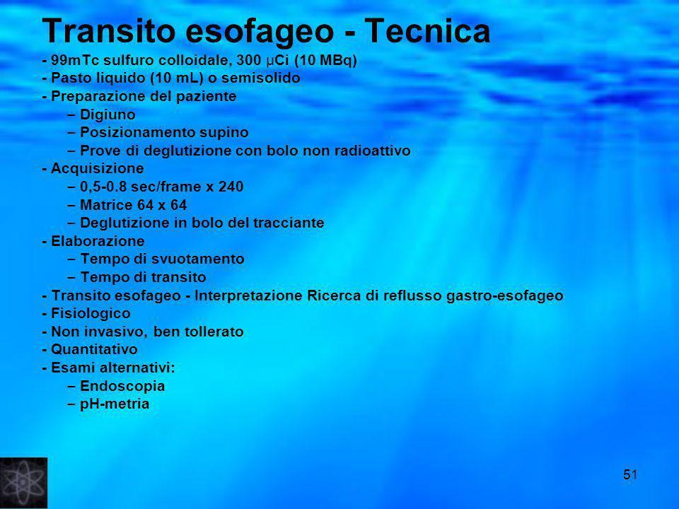 Transito esofageo - Tecnica