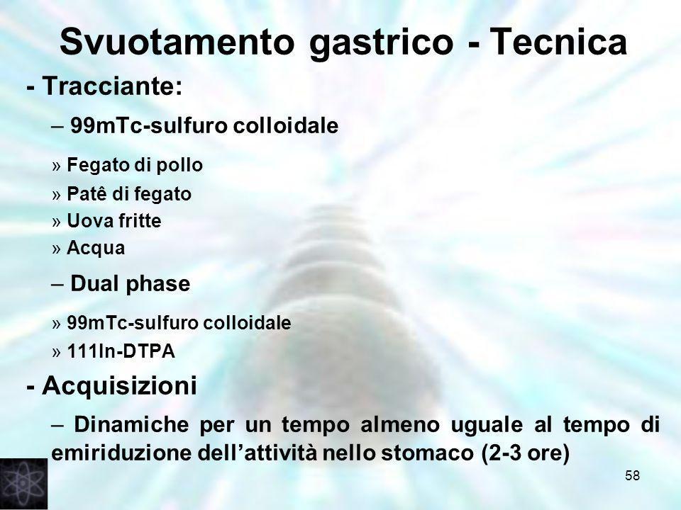 Svuotamento gastrico - Tecnica