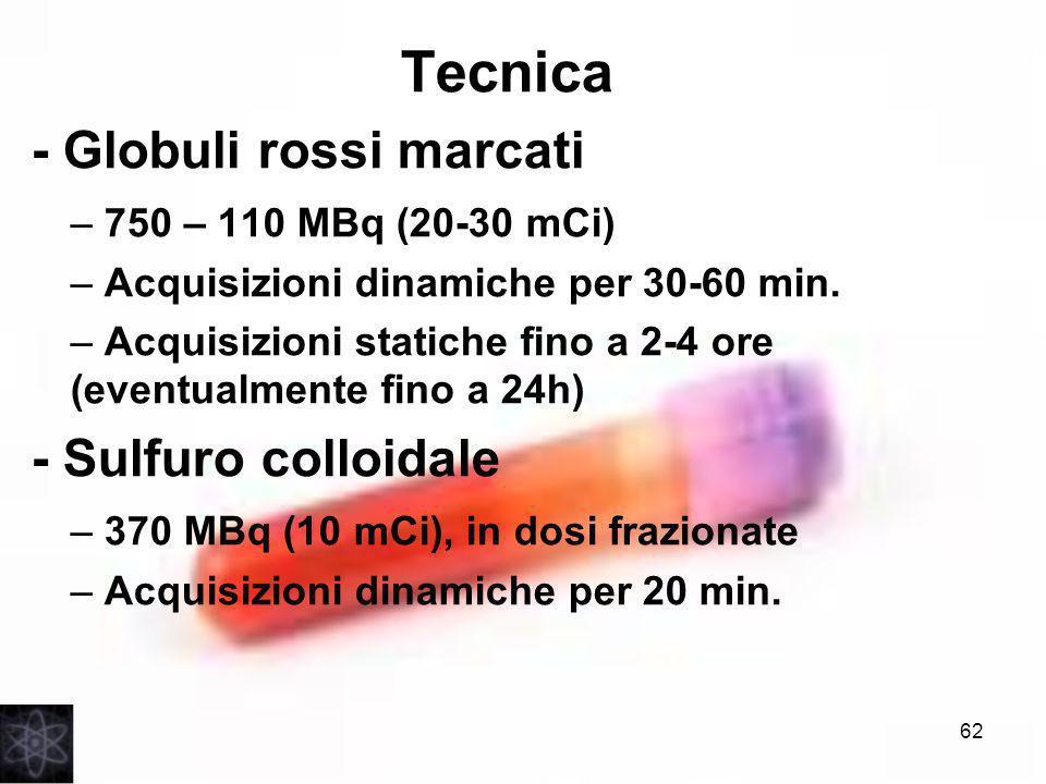 Tecnica - Globuli rossi marcati - Sulfuro colloidale